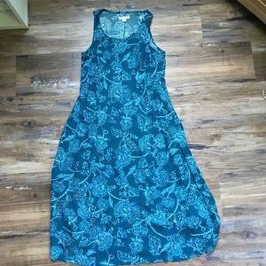 Coldwater creek- Blue Woodblock Print Dress